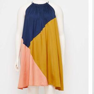 NWT LOFT Colorblock Swing Dress